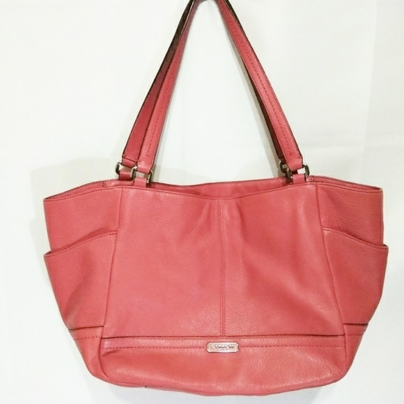Coach Handbags - Coach Leather Salmon Women Tote Purse Bag Handbag